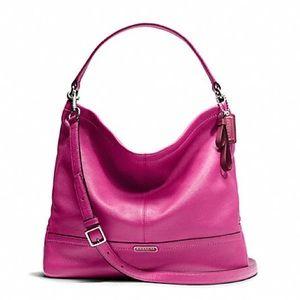 Coach Park Large Pink Leather Hobo Shoulder Bag